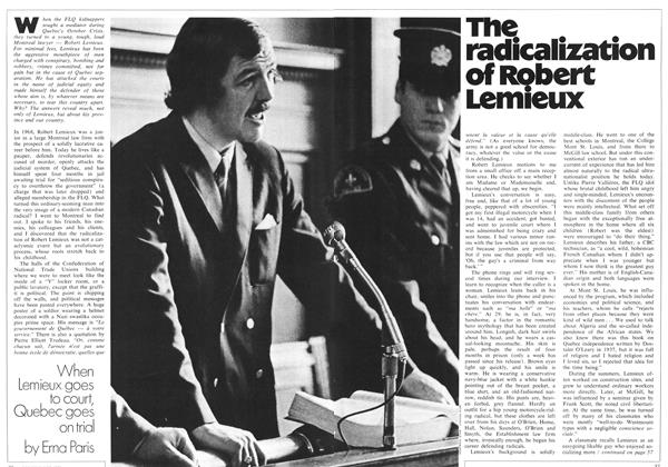 The radicalization of Robert Lemieux