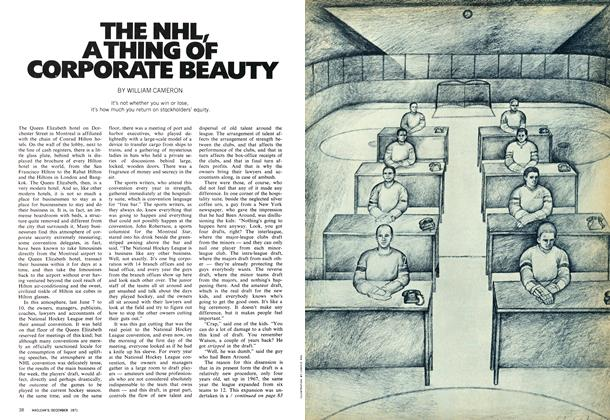 THE NHL, A THING OF CORPORATE BEAUTY