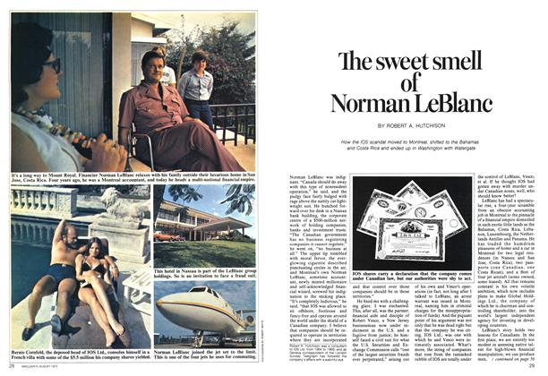 The sweet smell of Norman LeBlanc