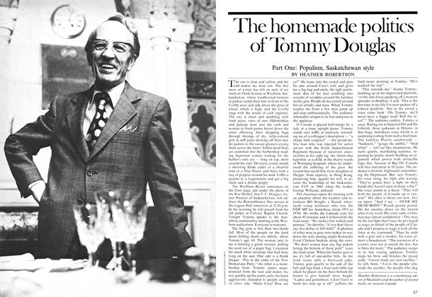 The homemade politics of Tommy Douglas