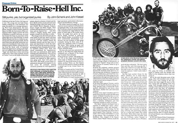Born-To-Raise-Hell Inc  | Maclean's | AUGUST 22, 1977