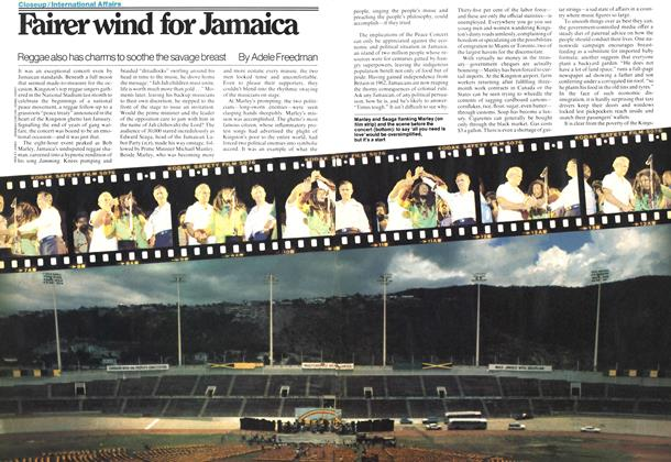 Fairer wind for Jamaica