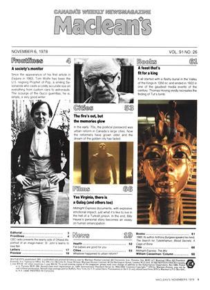 Maclean's, Page: 1 - NOVEMBER 6, 1978 | Maclean's
