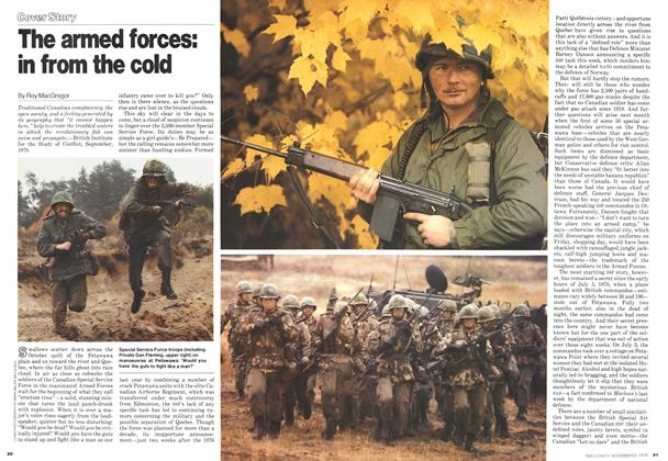 The armed forces: in from the cold