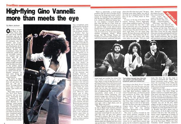 High-flying Gino Vannelli: more than meets the eye