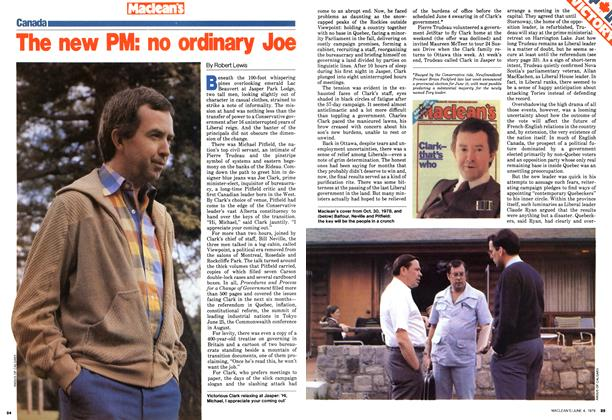 The new PM: no ordinary Joe