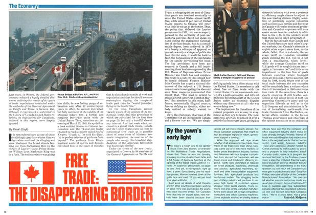 FREE TRADE: THE DISAPPEARING BORDER