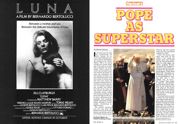 POPE AS SUPERSTAR