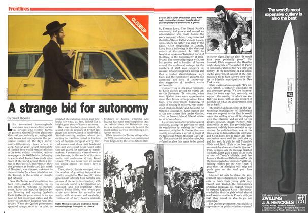 A strange bid for autonomy