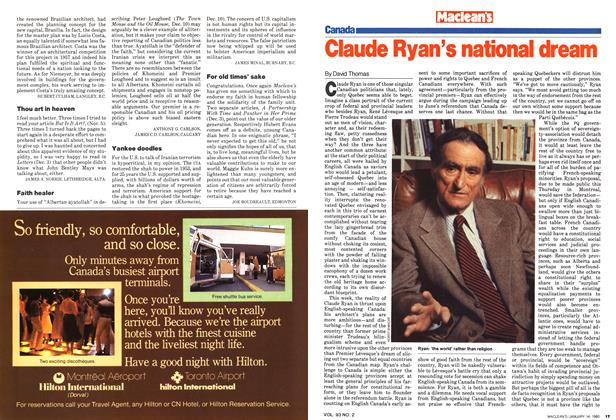 Claude Ryan's national dream