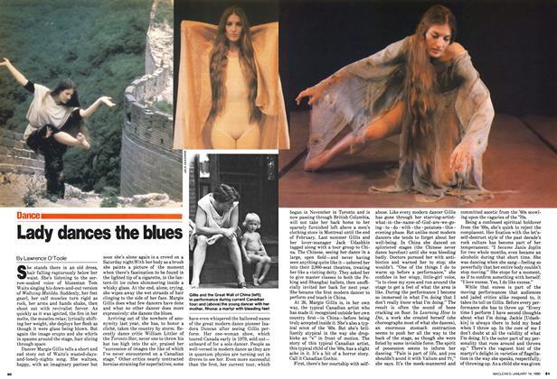 Lady dances the blues