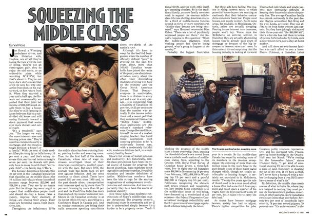 SQUEEZING THE MIDDLE CLASS
