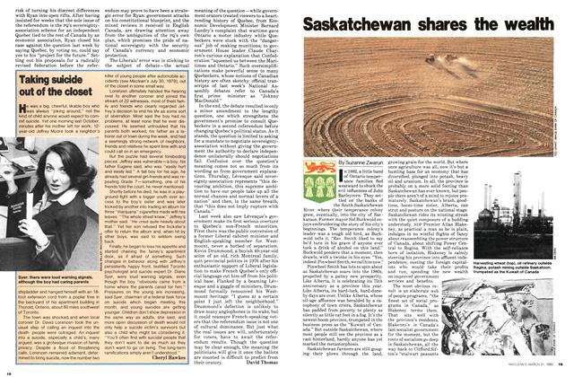 Saskatchewan shares the wealth