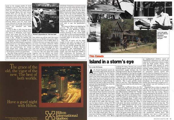 Island in a storm's eye