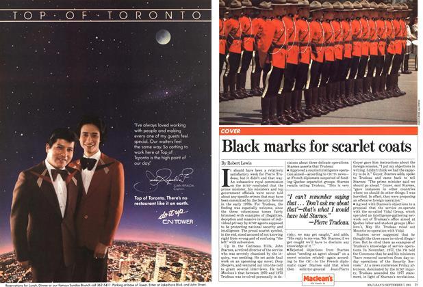 Black marks for scarlet coats