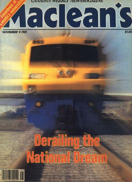 Issue: - NOVEMBER 9,1981   Maclean's