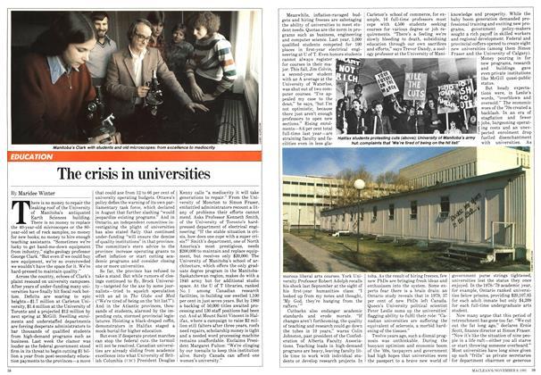 The crisis in universities
