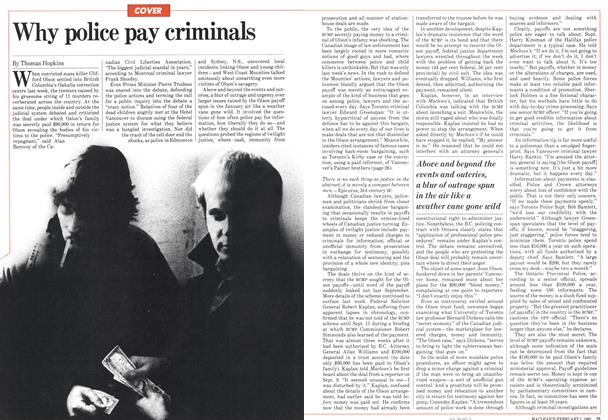 Why police pay criminals