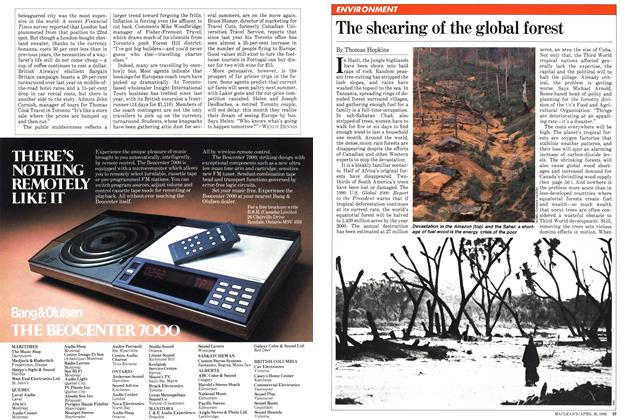The shearing of the global forest