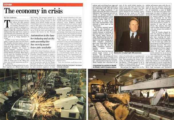 The economy in crisis