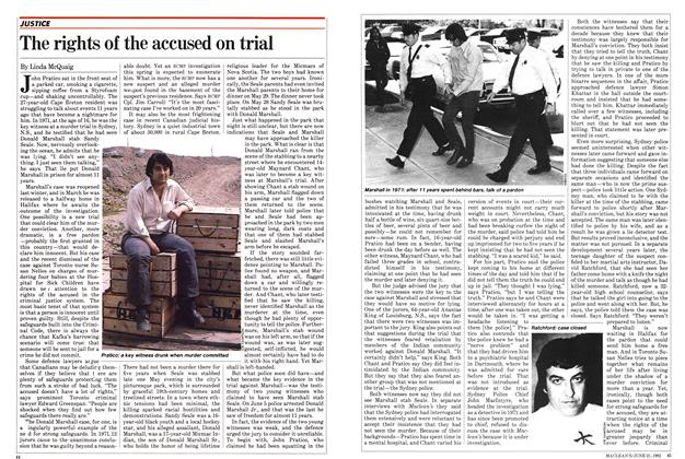 The rights of the accused on trial
