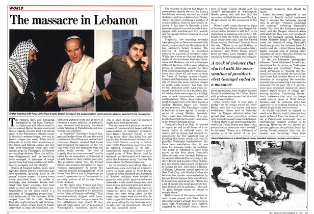 The massacre in Lebanon