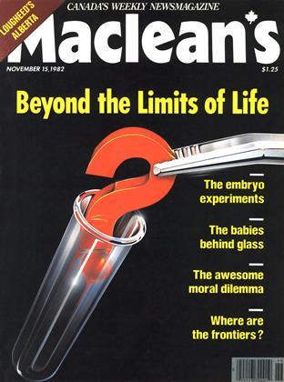 NOVEMBER 15, 1982 | Maclean's