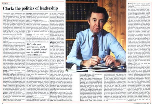 Clark: the politics of leadership