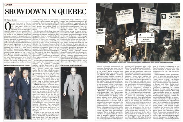 SHOWDOWN IN QUEBEC