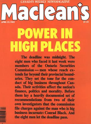 Cover for the April 25 1983 issue