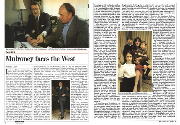 Mulroney faces the West