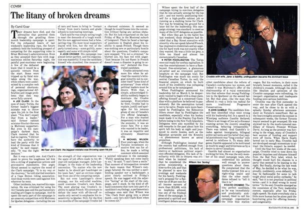 The litany of broken dreams