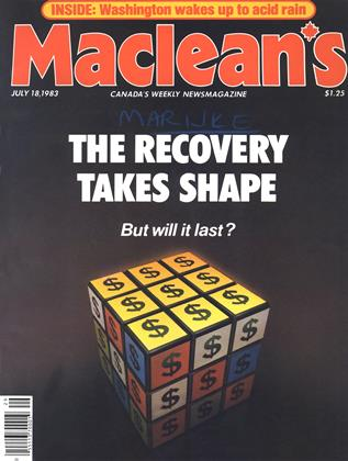 Cover for the July 18 1983 issue