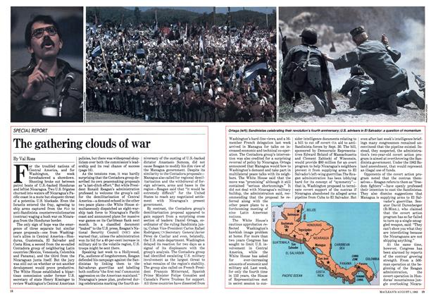 The gathering clouds of war