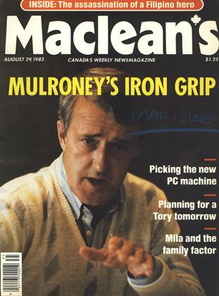 Cover for the August 29 1983 issue