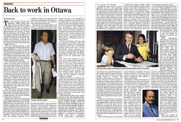 Back to work in Ottawa
