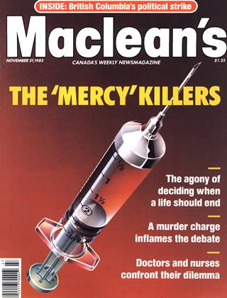 Cover for the November 21 1983 issue