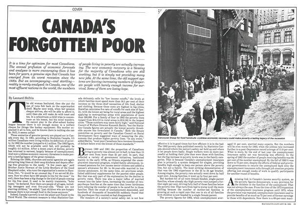 CANADA'S FORGOTTEN POOR