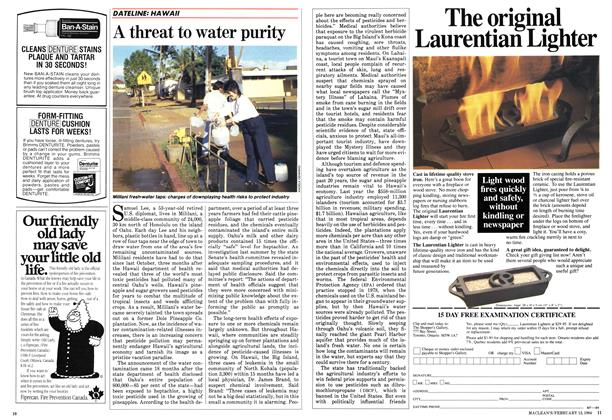 A threat to water purity