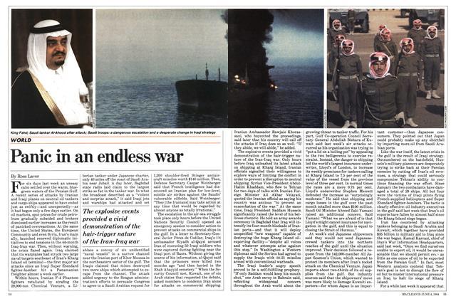Panic in an endless war