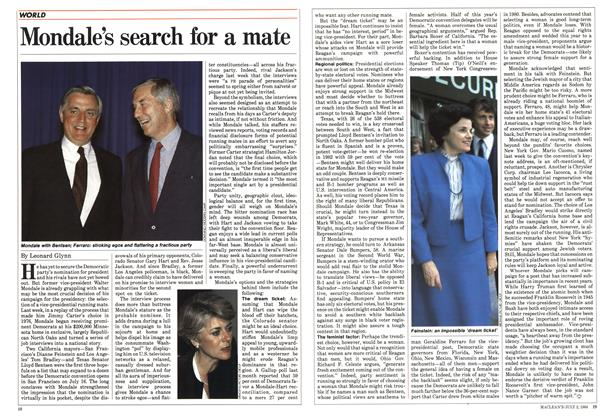 Mondale's search for a mate