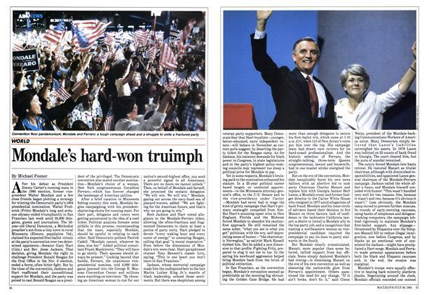Mondale's hard-won truimph