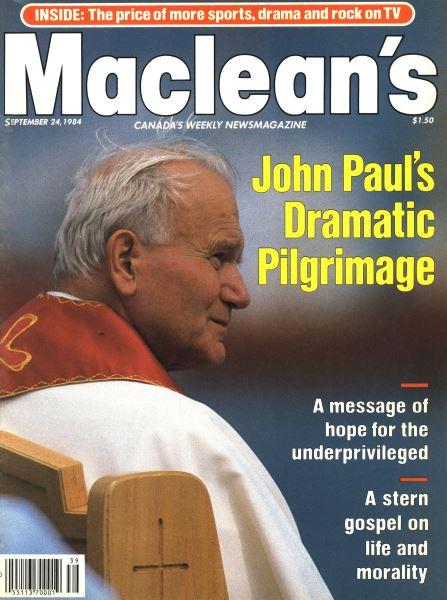 Issue: - SEPTEMBER 24,1984   Maclean's