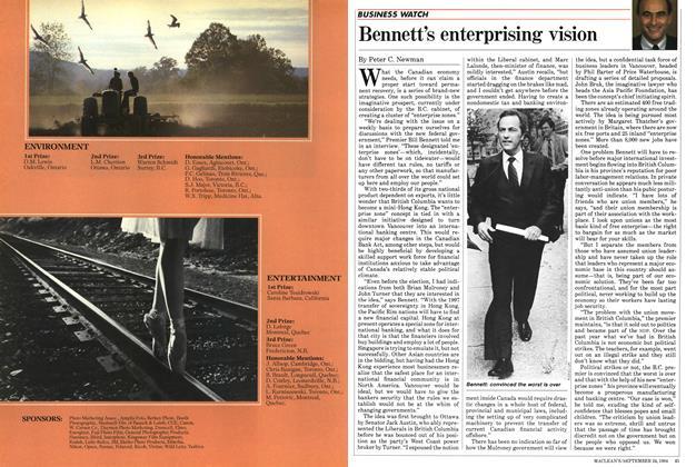 Bennett's enterprising vision