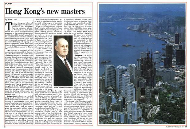 Hong Kong's new masters