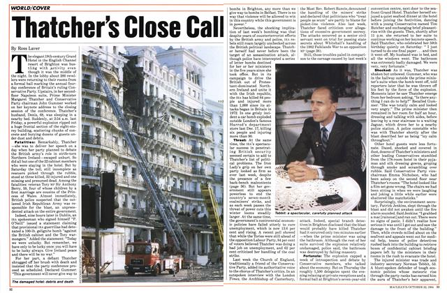 Thatcher's Close Call