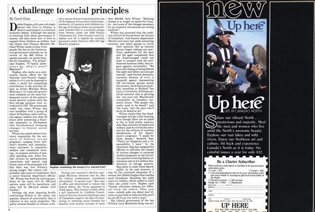 A challenge to social principles