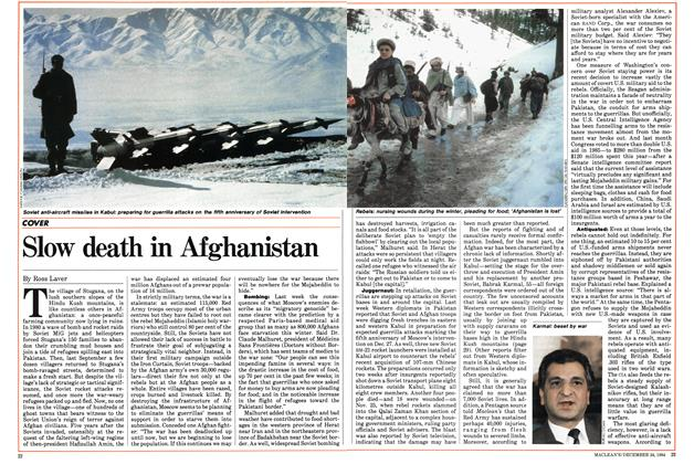 Slow death in Afghanistan