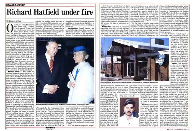 Richard Hatfield under fire