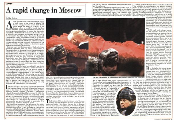 A rapid change in Moscow